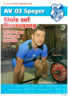 Athletenblatt 04/2007