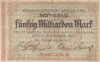 Notgeld Speyer 1923
