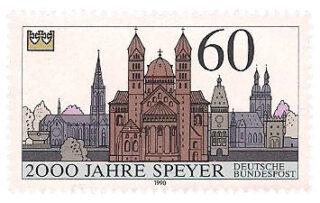 Briefmarke zur 2.000 Jahr Feier von Speyer - 1990